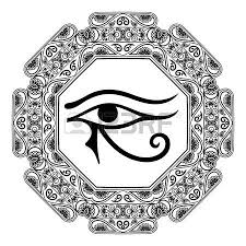 the ancient symbol eye of horus moon sign left eye