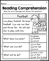 reading comprehension worksheets 1st grade printable reading