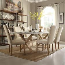 dining room sets kitchen dining room furniture the home depot upton 7 piece weathered light oak dining set