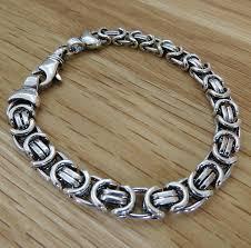 man silver bracelet jewelry images Men 39 s heavy silver chain detail bracelet by hurleyburley man jpg