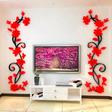compare prices on 3d wall flower stickers online shopping buy low right left beautiful acrylic rose flower 3d wall stickers removable house room party decoration diy