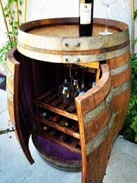 wine barrel cabinet with wine and glass storage best barrels and