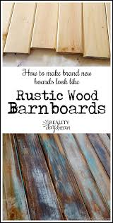 How To Paint Cabinets To Look Distressed How To Create An Aged Look On New Wood For The Home Pinterest