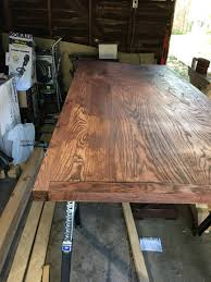 staining a table top sanding ran into a few issues while staining my table top