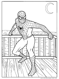 spider man coloring sheet spider man ready fight
