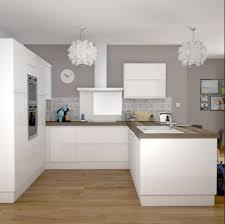 cuisine blanche cuisine blanche mur collection et cuisine blanche et bois clair
