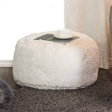 solid hair pouf white home decor jysk canada