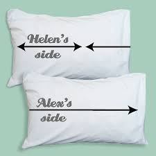 personalised my side your side pillow set