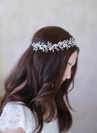 pearl headpiece pearl baby s breath hair wreath crown halo headpiece hair vine