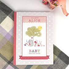 baby record book personalised girl s baby record book gettingpersonal co uk
