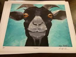 Goat Decor Goat Art Goat Decor Goat Print From Original Goat Painting