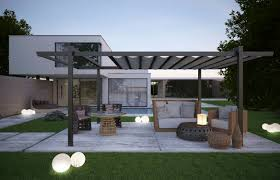 Pergola Designs With Roof by Fabulous Home Balcony Design With White Pergola Roof And