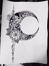 moon design tattos moon design moon and