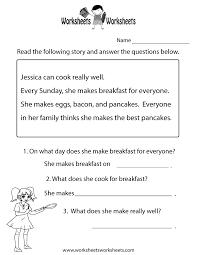 Worksheets Com Reading Comprehension Test Worksheet Free Printable Educational