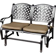 Outdoor Glider Chair Darlee Nassau Cast Aluminum Patio Bench Glider Ultimate Patio