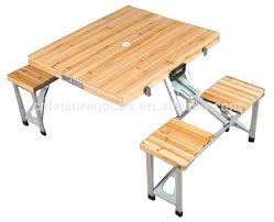 Wood Folding Table Plans Wooden Foolding Outdoor Picnic Table Design With Metal Table Frame