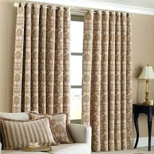 Curtains Ring Top Beige And Gold Curtains Lined Ready Made Eyelet Ring Top Damask