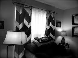 black and white interiors interior design gorgeous chevron curtains for home decoration