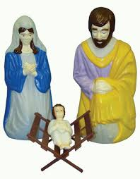 Nativity Sets Outdoor Plastic Lighted Outdoor Lighted Nativity Scene Set General Foam Plastics Corp