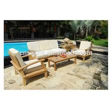 Outdoor Furniture Simple Wooden Sofa Teak Wood Sofa Set Designs - Teak wood sofa set designs