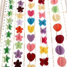 paper decorations paper flower garland decorations pom pom garland tissue paper pom