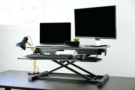 dual monitor stand up desk dual monitor standing desk stwo monitor stand up desk owiczart