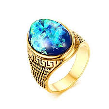 big stone rings images Slyq jewelry big stone ring for men vintage stainless jpg
