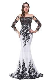 evening gown shop discount sleeve trumpet mermaid scoop satin black and