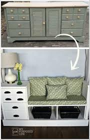 storage bench made from a dresser storage benches white storage