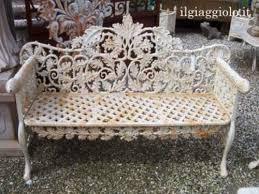 panchine da giardino in ghisa panchina in ghisa con disegno a foglie di quercia