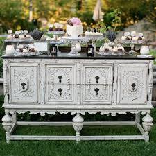 juliette distressed creamy white buffet forever vintage rentals