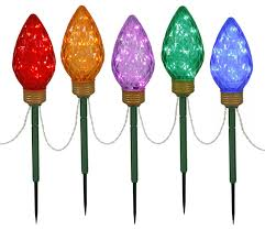 led 5 light stakes multicolor contemporary lighting