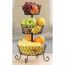 tiered fruit basket carol wright gifts black tiered fruit basket
