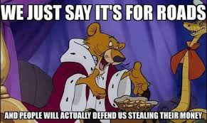 Theft Meme - how politicians get away with fleecing taxpayers summed up by one meme