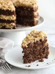 traditional german chocolate cake with butterscotch frosting