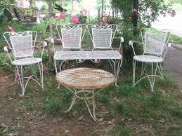 Wrought Iron Mesh Patio Furniture by 253 Best Vintage Garden Furniture Images On Pinterest Garden
