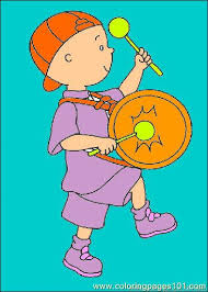 caillou coloring pages 035 coloring free caillou coloring
