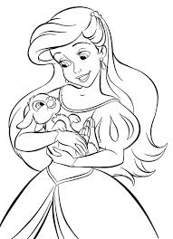 coloring pages ariel mermaid coloring pages