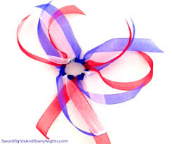 hair ribbons fireworks hair ribbons patriotic white blue 4th of july