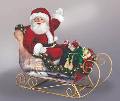 kinkade jolly illuminated sleigh santa doll by the bradford