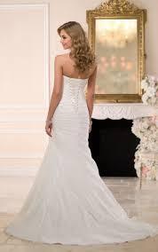 organza fit u0026 flare corset wedding dress stella york wedding dresses