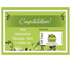 handcrafted green theme greeting and gift card set