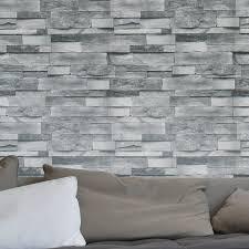 haokhome modern faux brick wallpaper dk grey textured realistic