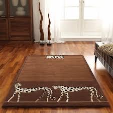 leopard area rug leopard print runner rug nylon animal print runner rugs ebay