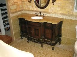 Country Bathroom Vanities Sinks Stainless Steel Faucet Top Handle Wall Mount Faucets