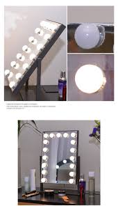 Makeup Lighted Mirror Dressing Room Portable Cosmetic Hollywood Vanity Makeup Lighted
