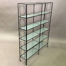 etagere metal vintage wrought iron and textured glass etagere cityfoundry