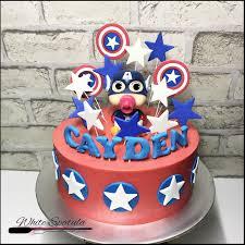 captain america cakes captain america buttercream cake white spatula