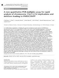 a new quantitative pcr multiplex assay for rapid analysis of