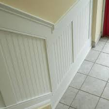 Unfinished Beadboard Paneling - 96 inch l adjustable height beadboard panel stair wainscoting kit